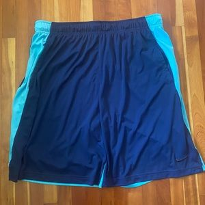 Men's Nike Dri-FIT Shorts, Navy with Turquoise